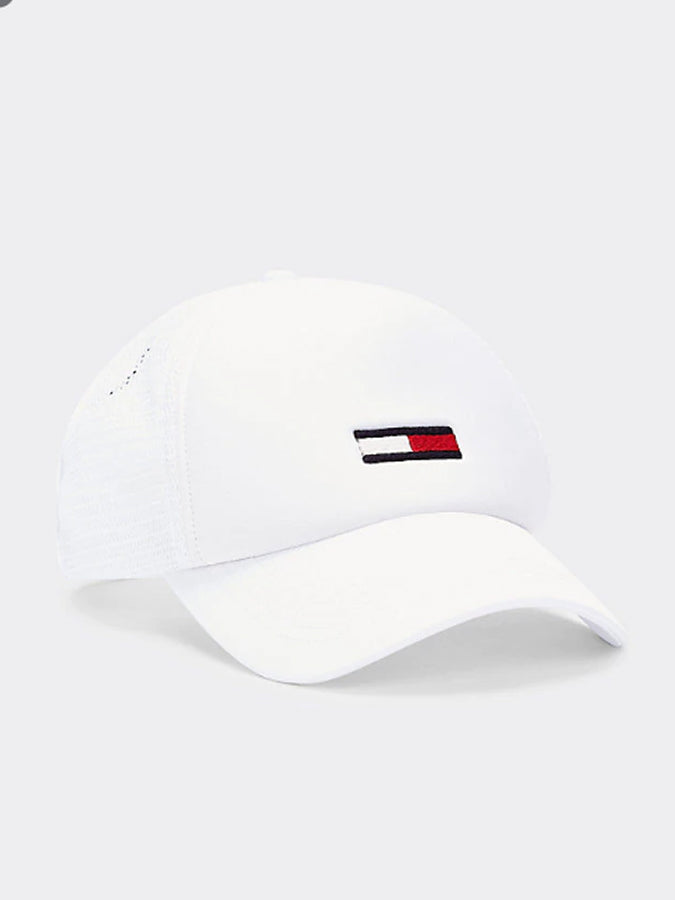 Tommy jeans flag logo Trucker Cap White