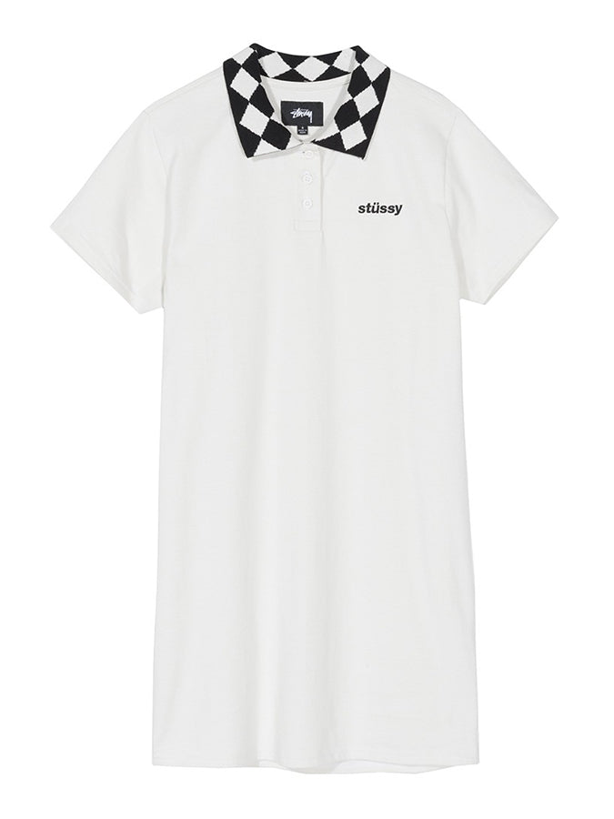 Stussy women Memphis Collar Dress White