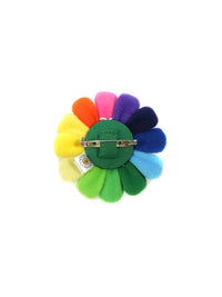 村上隆 Takashi Murakami Flower Plush Pin Black face
