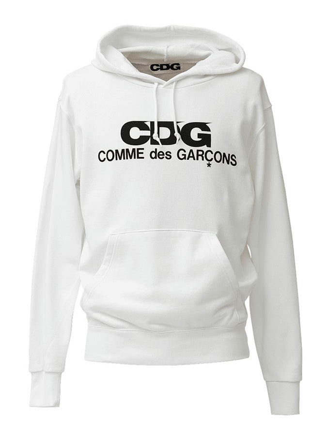 Cdg Hooded Sweatshirt White