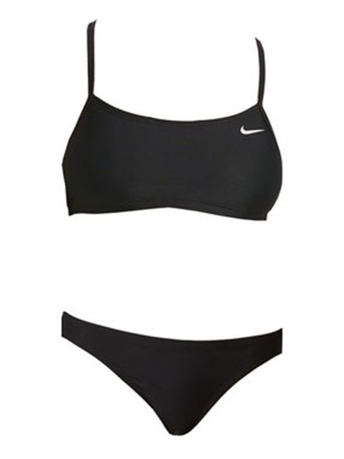 Nike women swim racerback bikini Set Black