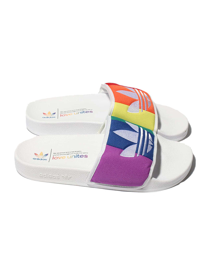 Adidas Originals pride sliders