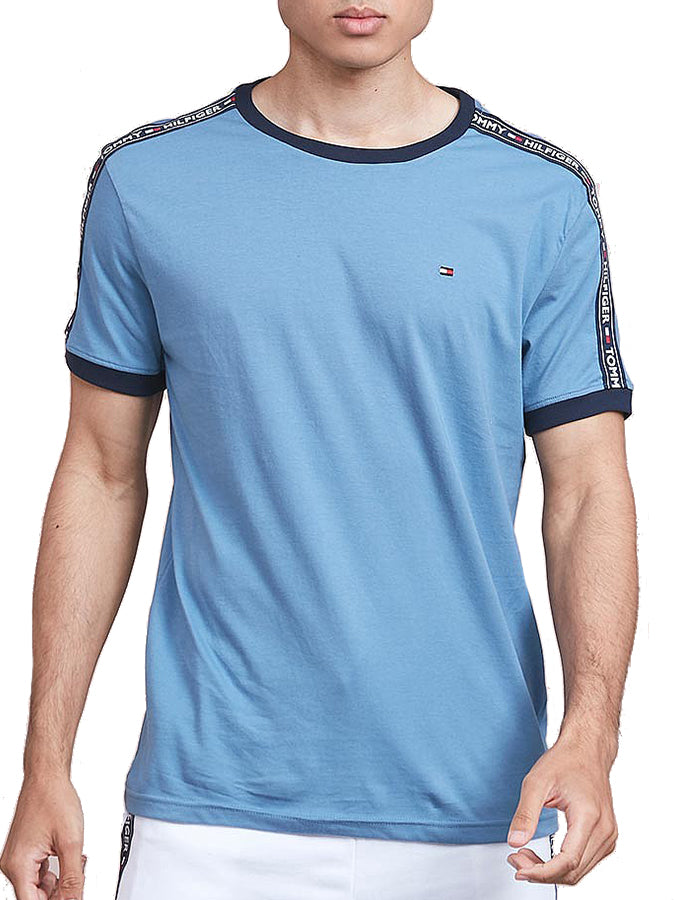 Tommy Hilfiger Taped Sleeve T-shirt Sky Blue