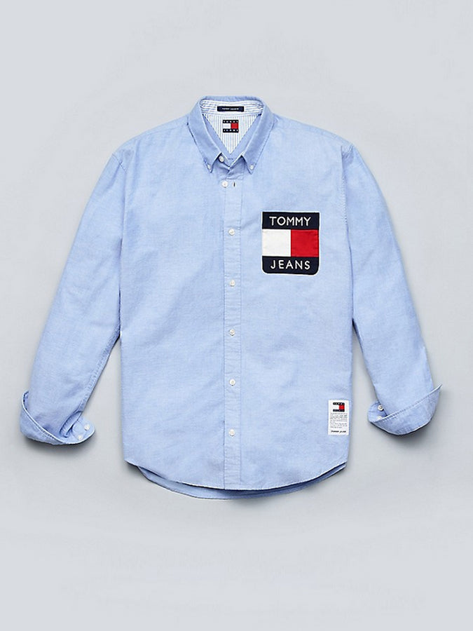 Tommy jeans pocket flag Shirt denim Blue