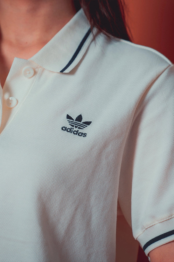 Adidas Originals women Tennis cropped Polo Cream / Green