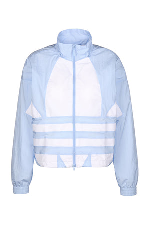 Adidas Originals women large logo Jacket Sky Blue