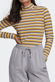 Adidas Originals women stripe LST-Shirt Yellow/Purple
