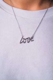 BBG Love Necklace Silver