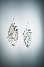 BBG square square Earrings Silver