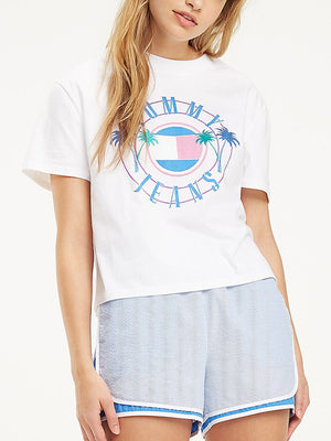 Tommy Jeans women Vintage Beach T-shirt White