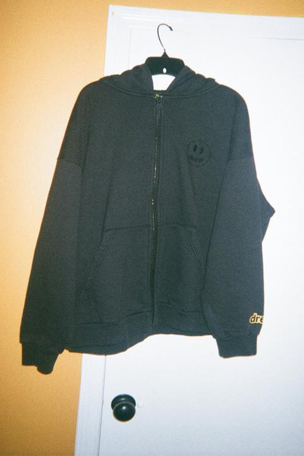 Drew House mini mascot zip up Hoodie Black