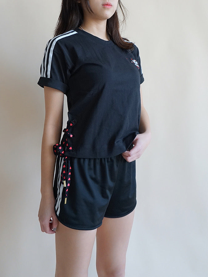 Adidas Originals women love Crop T-Shirt Black