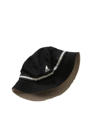 Kangol JP stripe Bucket Hat Black