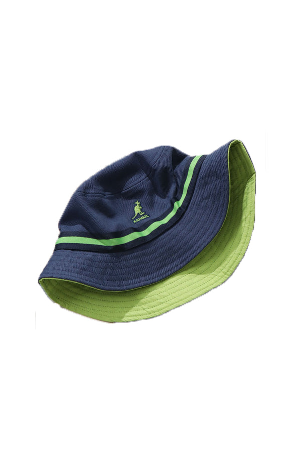Kangol JP stripe Bucket Hat Navy