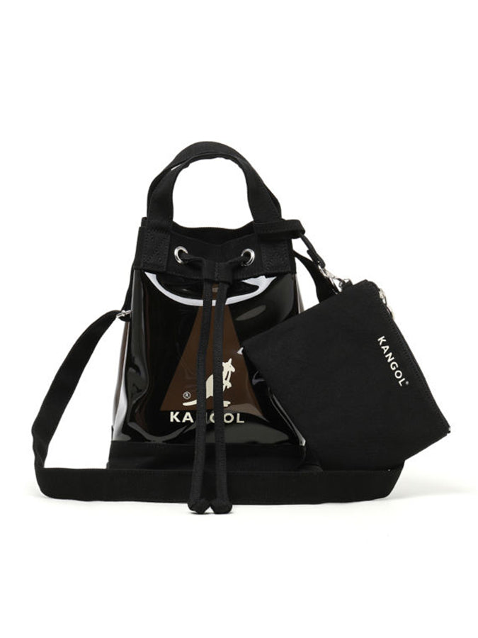 Kangol canvas transparent logo Tote Bag Black