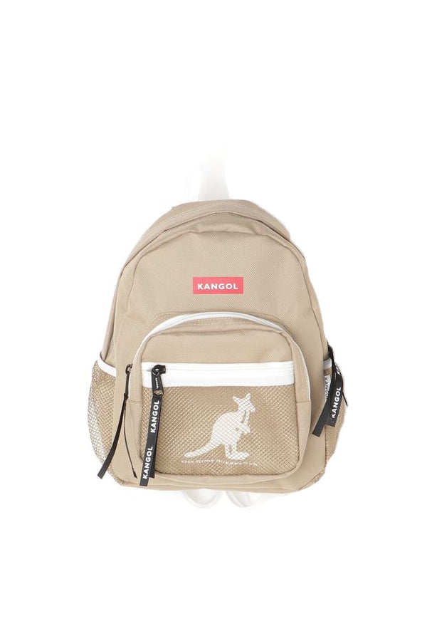 Kangol mesh pocket mini Backpack Khaki