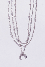 BBG Triple Chain pendant Moon Necklace