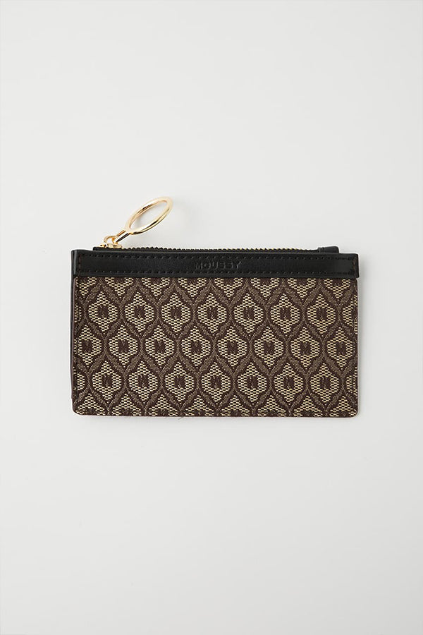 Moussy monogram Card Holder Brown