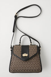 Moussy monogram mini Shoulder Bag Brown