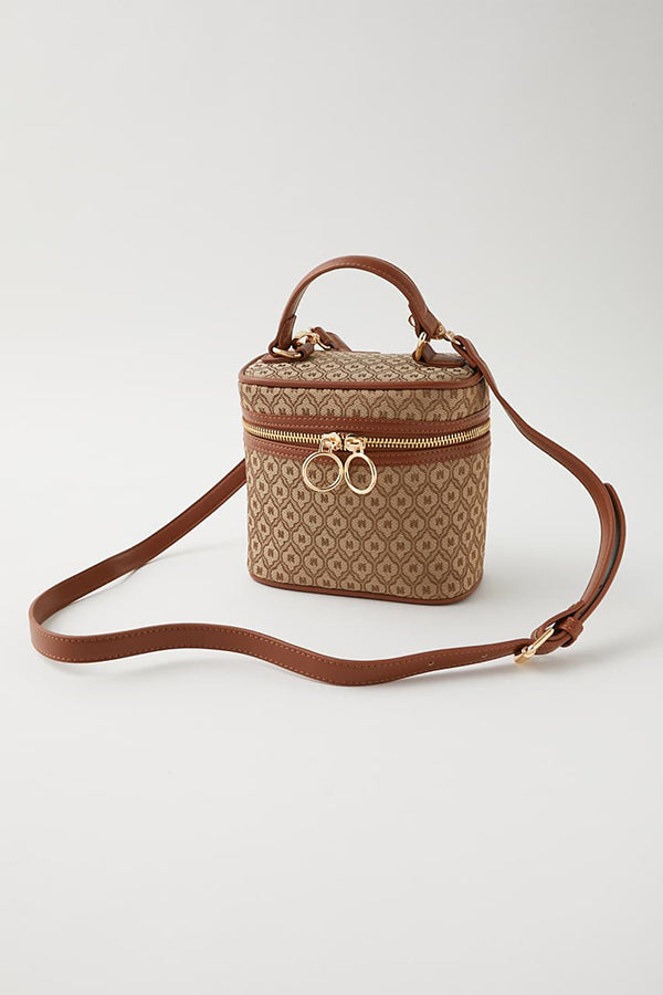Moussy monogram vanity Bag Khaki