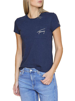 Tommy Jeans women Easy Pocket logo T-shirt Navy