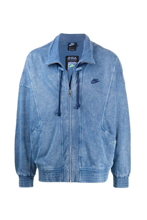 Nike acid washed hood Jacket Blue