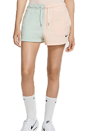 Nike women colorblock essentials Shorts Peach/Mint