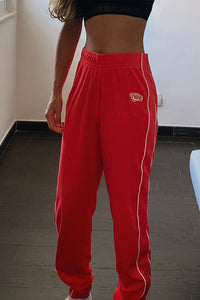 Nike women towelling Pants Dust Red