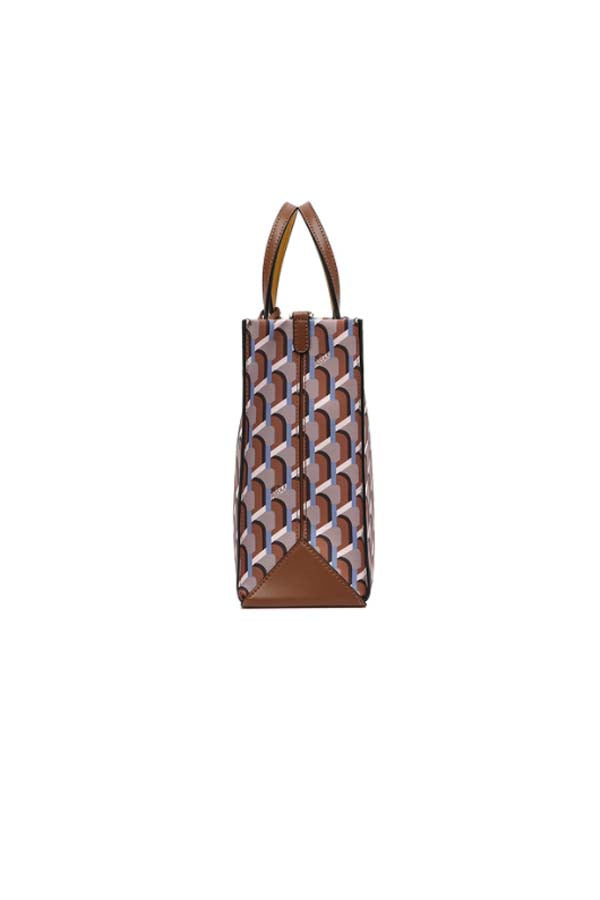 Rosa.K Cabas Monogram Day Tote Bag Camel - M