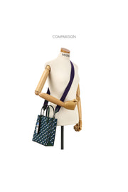 Rosa.K Cabas Monogram Tote Bag Blue Mountain - S