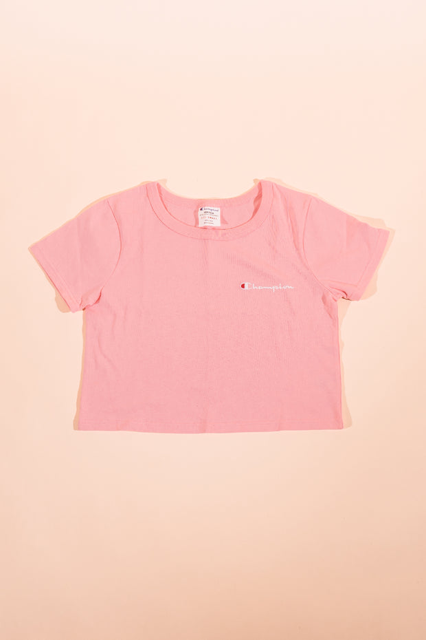 Champion women Cropped T-Shirt Pink