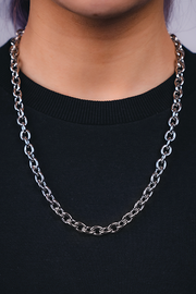 BBG chain Necklace Silver