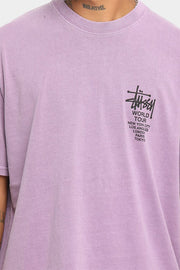 Stussy Pigment World Tour T-Shirt Lilac