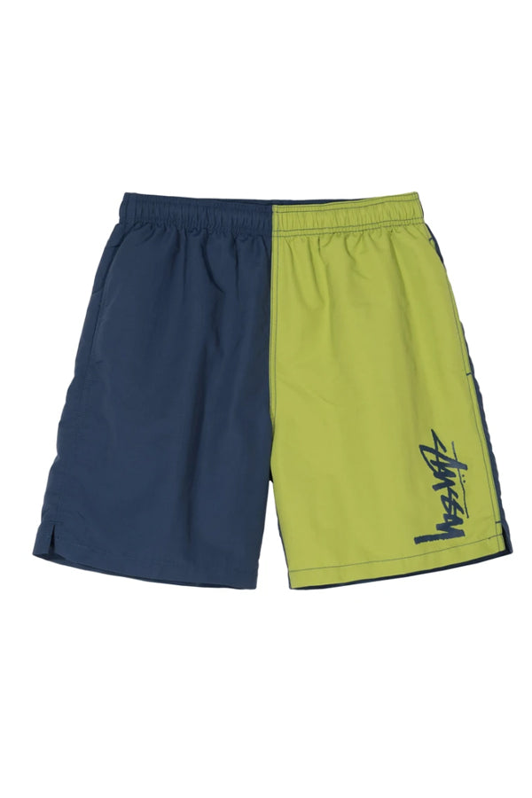 Stussy panel water Short Navy/Lime