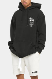 Stussy pigment World Tour Hoodie Black