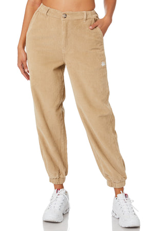 Stussy women Liston cord Pants Khaki