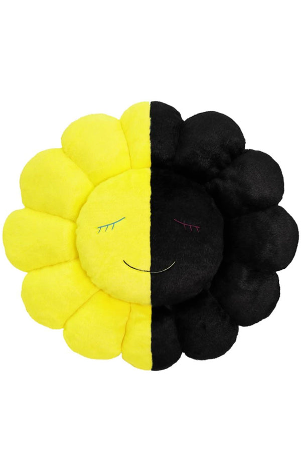 村上隆 TM × HIKARU Collaboration Flower Cushion 60cm Black / Yellow