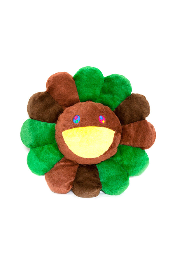 村上隆 Takashi Murakami Flower Cushion 30cm Brown/Green