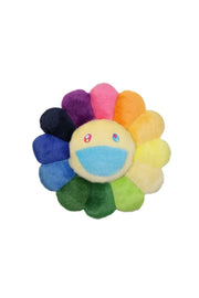村上隆 Takashi Murakami Flower Cushion 30cm Rainbow / Blue