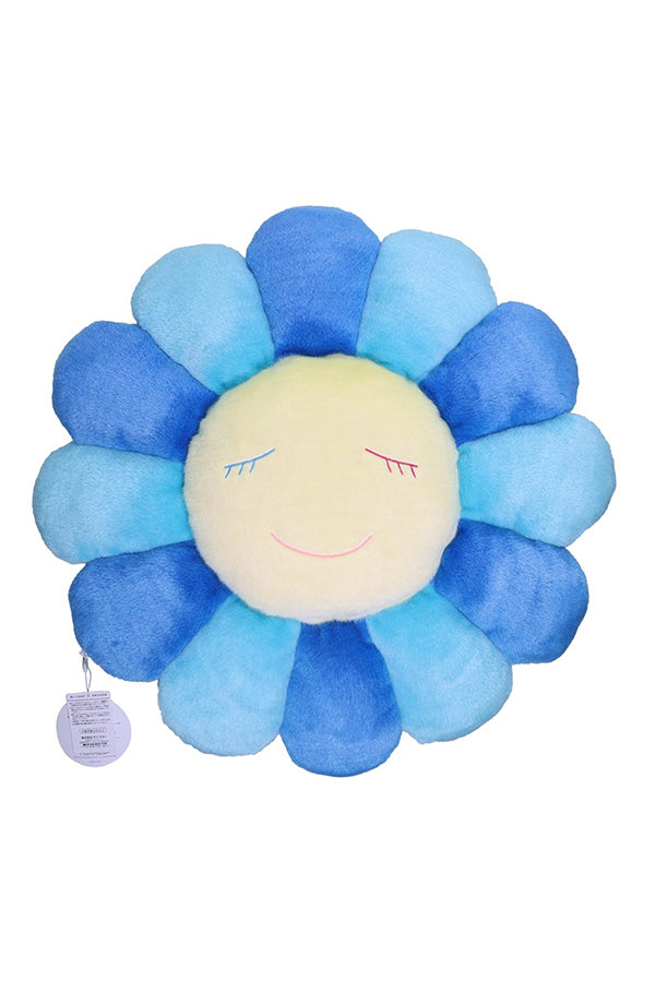村上隆 Takashi Murakami Flower Cushion 60cm Light Blue/Blue