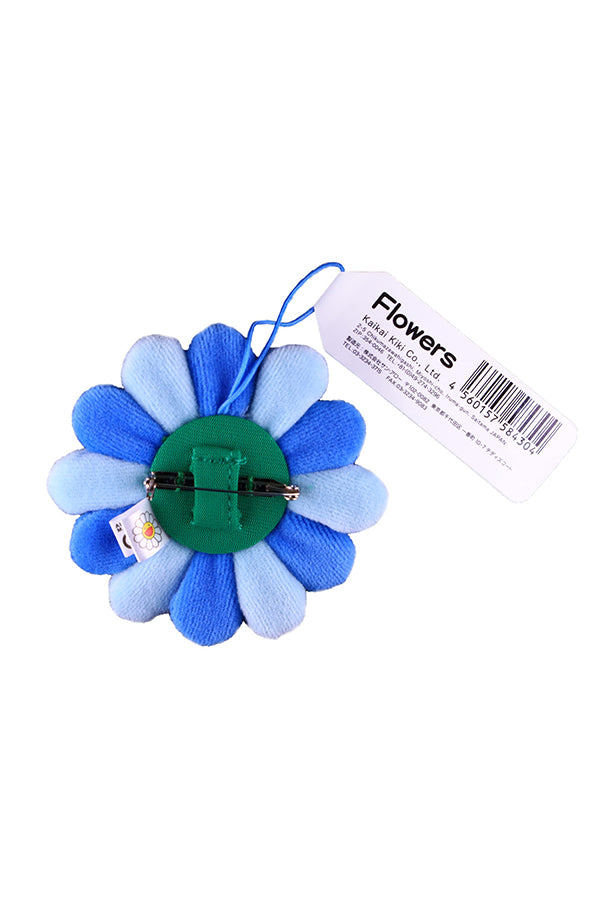 村上隆 Takashi Murakami Flower Plush Pin Light Blue/Blue