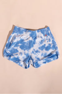Tommy Hilfiger women Dolphin Tie-Dyed Shorts Blue