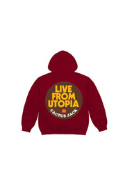 Travis Scott live from utopia sticker Hoodie Red