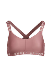 Under Armour women Wordmark Strappy Sportlette Bra Hush Pink