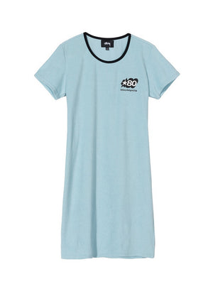 Stussy women Barra Mini Dress Light Blue