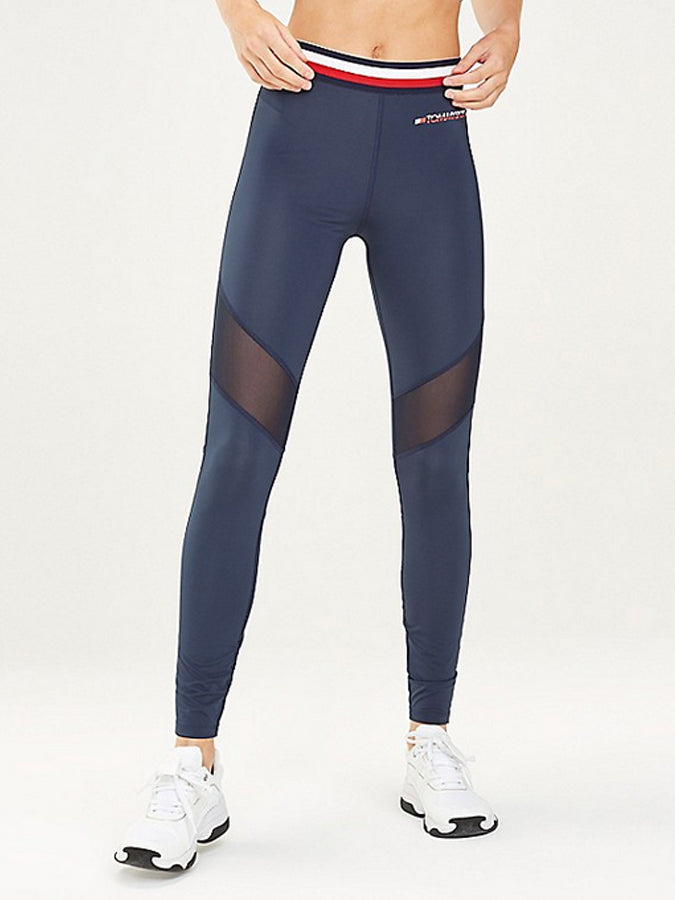 Tommy Sport women Mesh Inset Leggings Navy