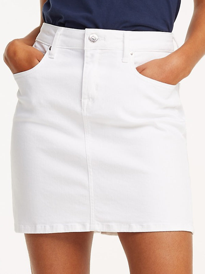 Tommy Jeans women Denim Skirt White