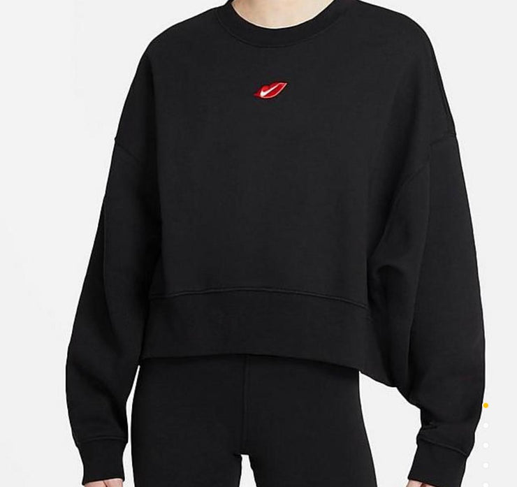 Nike women kiss logo Sweatshirt Black