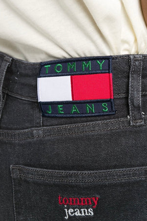 Tommy Jeans women high wise Button Jeans Black