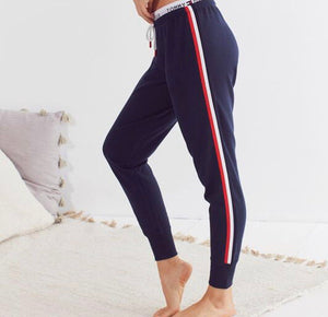 Tommy Hilfiger women side stripe Lounge Pant Navy